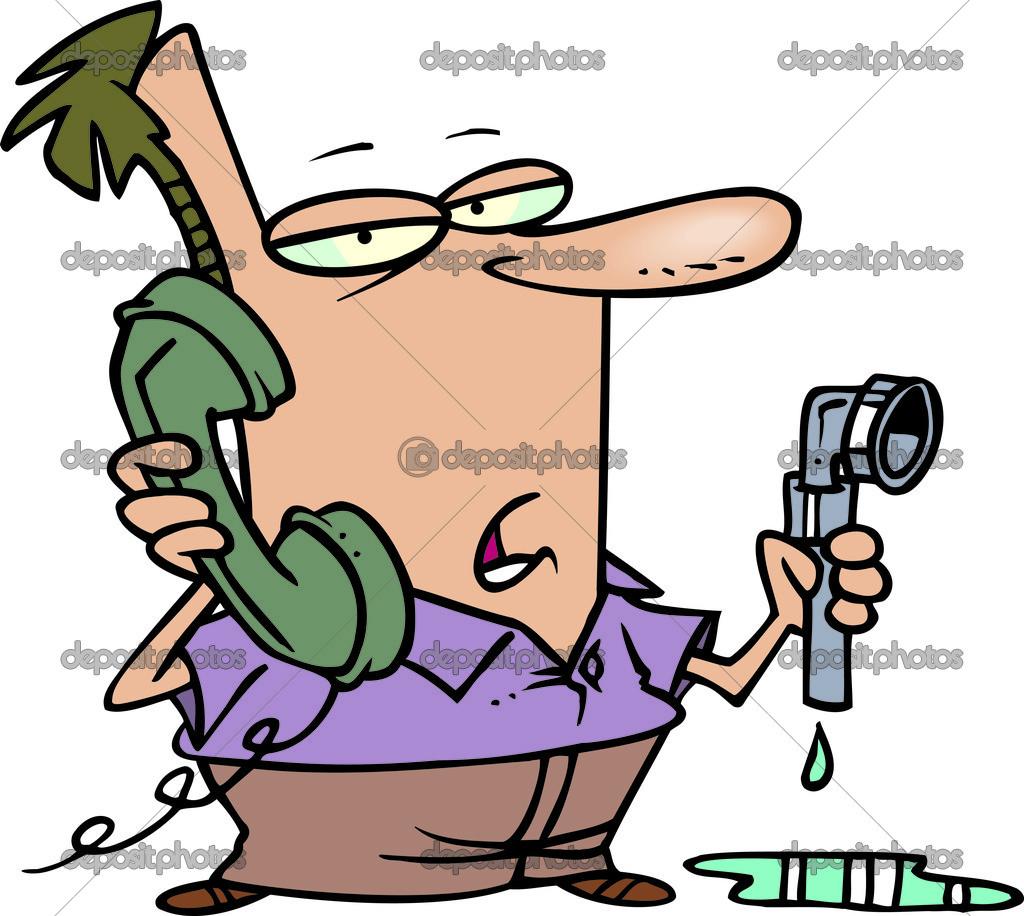 Cartoon Plumbing Woes — Stock Vector © ronleishman #13949989.