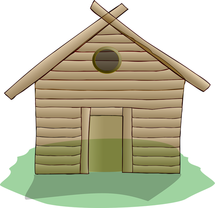 Free vector graphic: Building, Home, Wooden, Wood, Log.