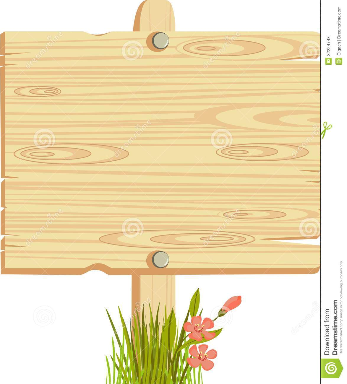 Free wooden sign clipart.