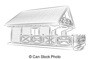 The wooden house clipart #17