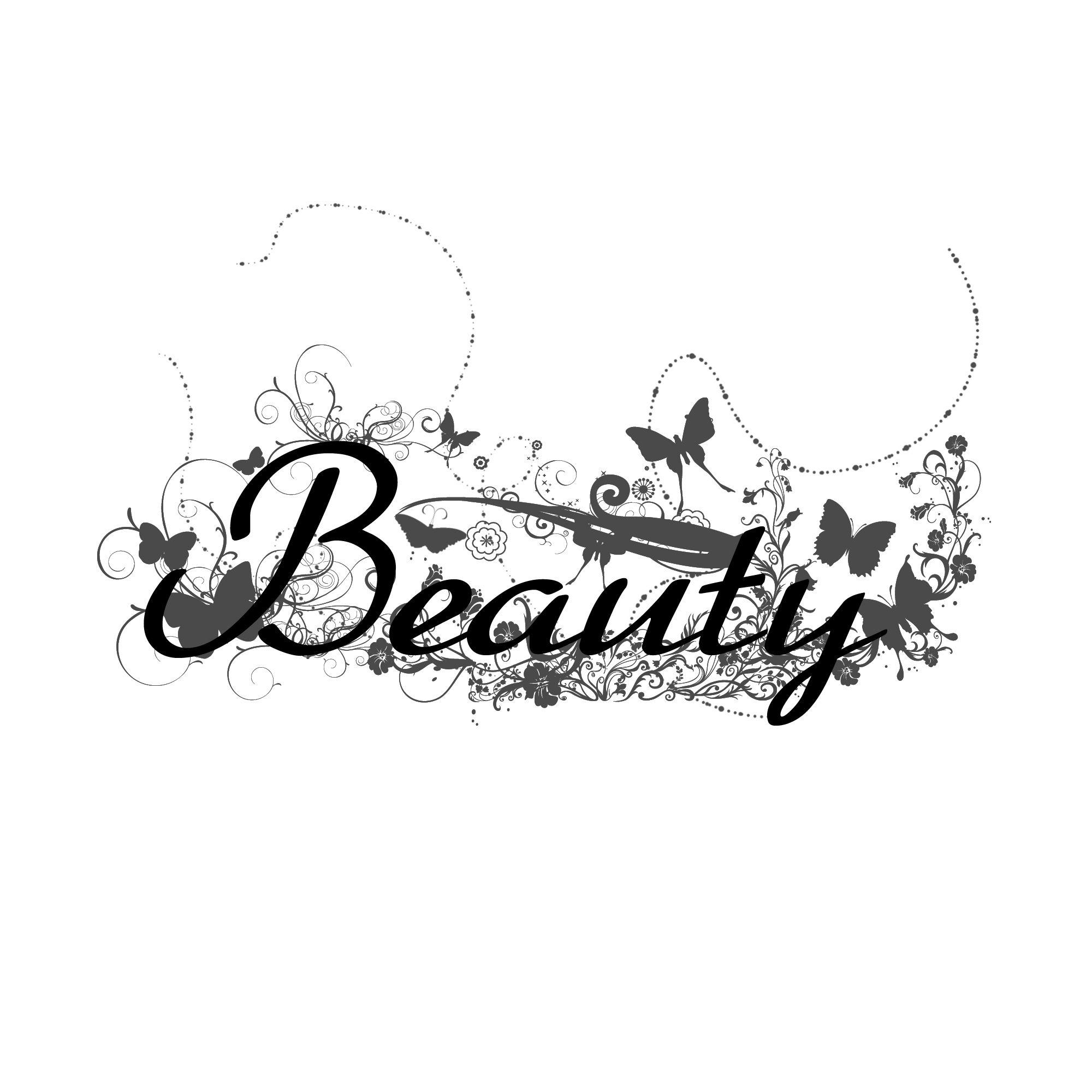 Beauty Word Art Design..