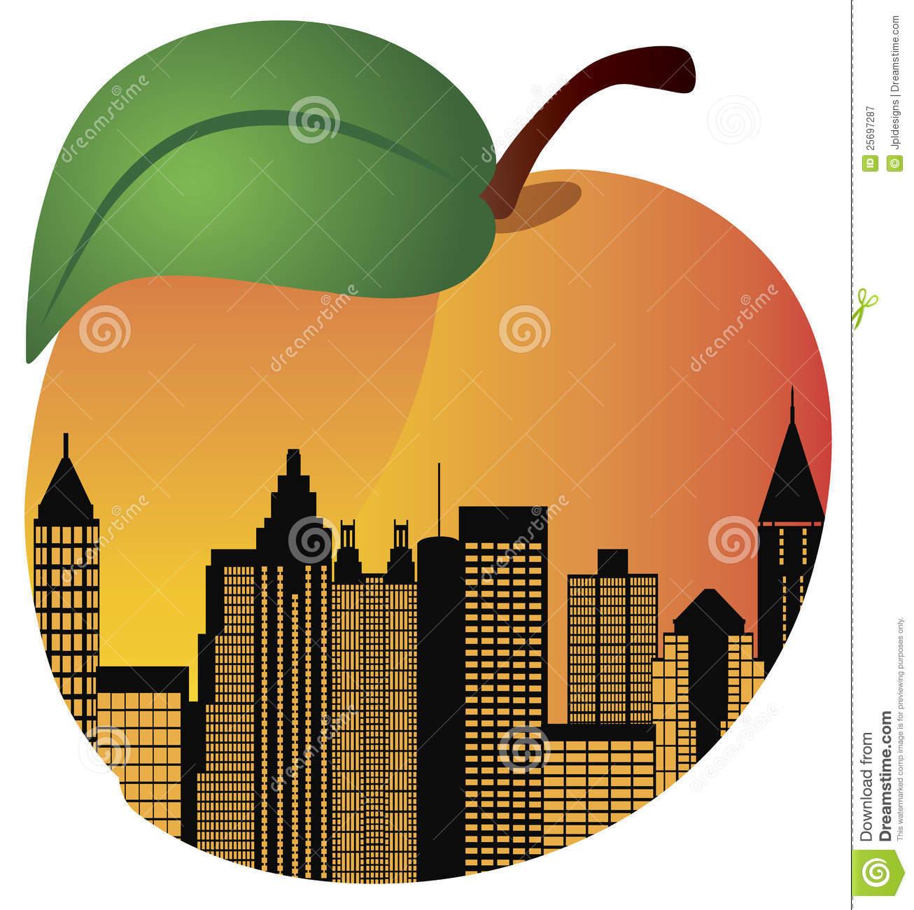 Atlanta Peach Clipart.