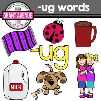 UG Word Family Clipart.