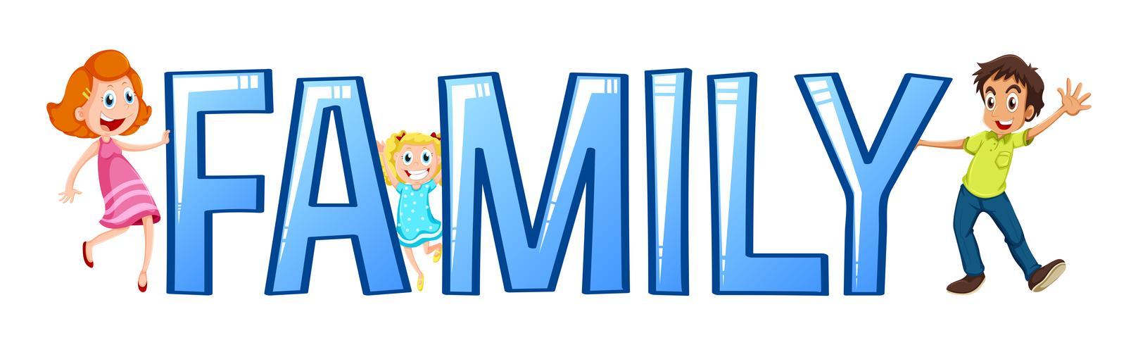 Font design for word family.