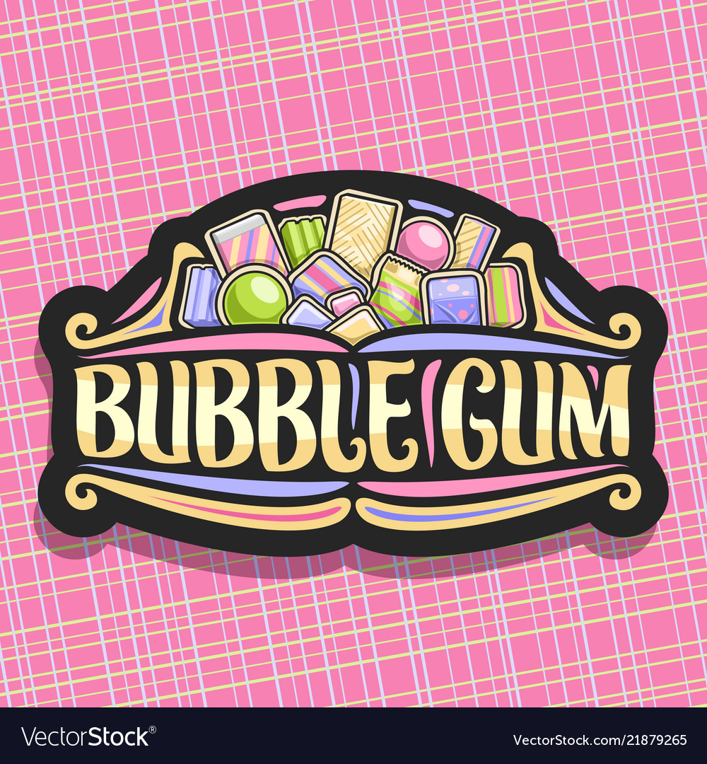 Logo for bubble gum.