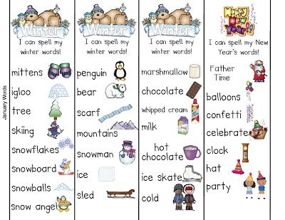 Kindergarten Smiles: Penguins and January Word Work Words!.