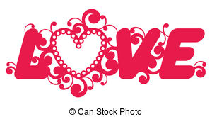 Love word Clipart Vector and Illustration. 15,869 Love word clip.