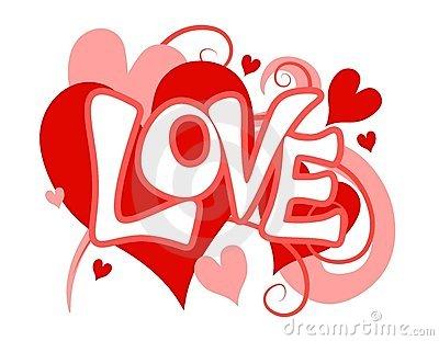 Valentine's Day Love Heart Clip Art Stock Photo.