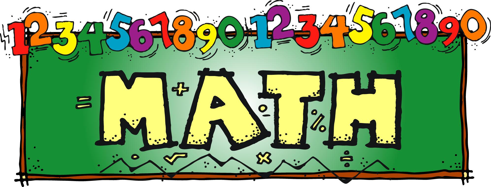 The Word Math Clipart.