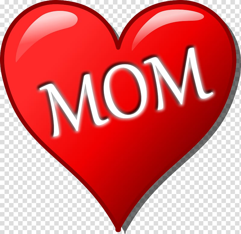 Mothers Day Heart Child , Word Mom transparent background.