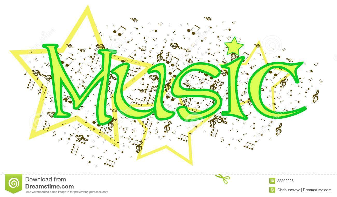 Music Word Royalty Free Stock Image.