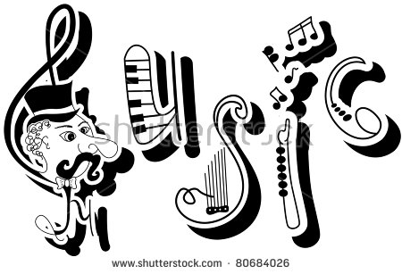 Word Music Stock Images, Royalty.