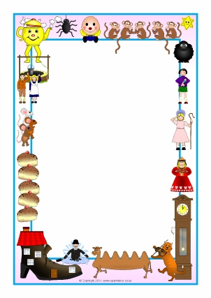Nursery Rhyme Printable Page Borders.