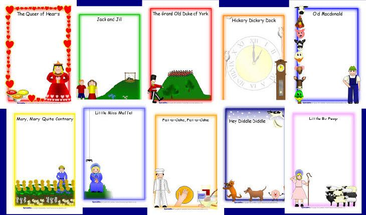 Nursery rhyme A4 page borders (SB2647).