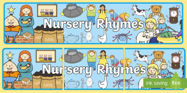 Nursery Rhyme Display Banner.