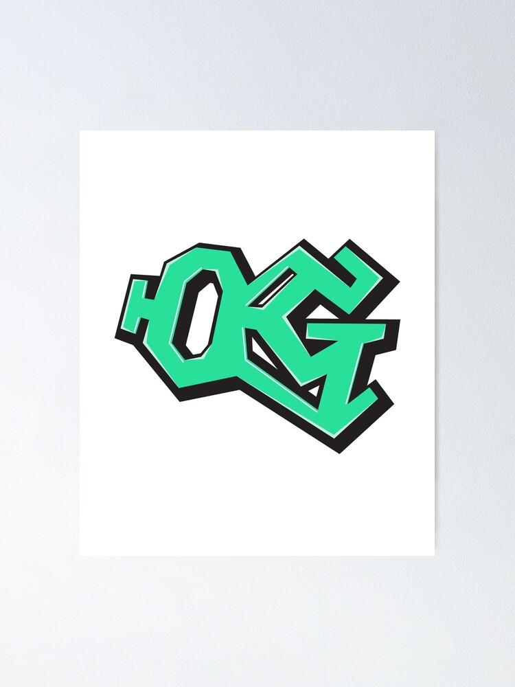 Graffiti Style Mint Green \'OG\' Original Gangsta.