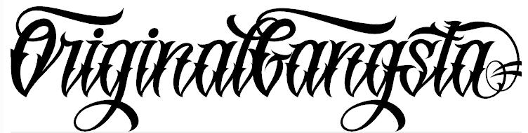 Original GangstA Font.