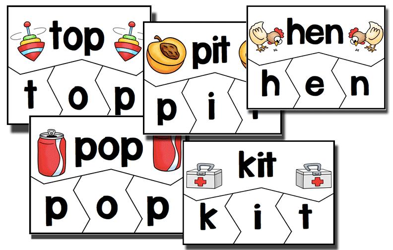 CVC Word Family Puzzles.