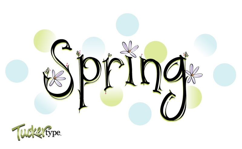 Spring ~ Word Vector Clipart Graphic.