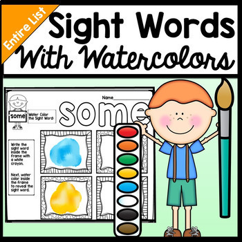 Sight Word Stations with Watercolor Painting {220 Words!}.