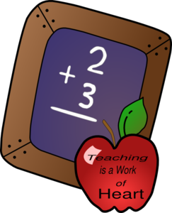 Teaching Is A Work Of The Heart Clip Art at Clker.com.