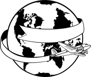 23952 clipart earth globe black white.