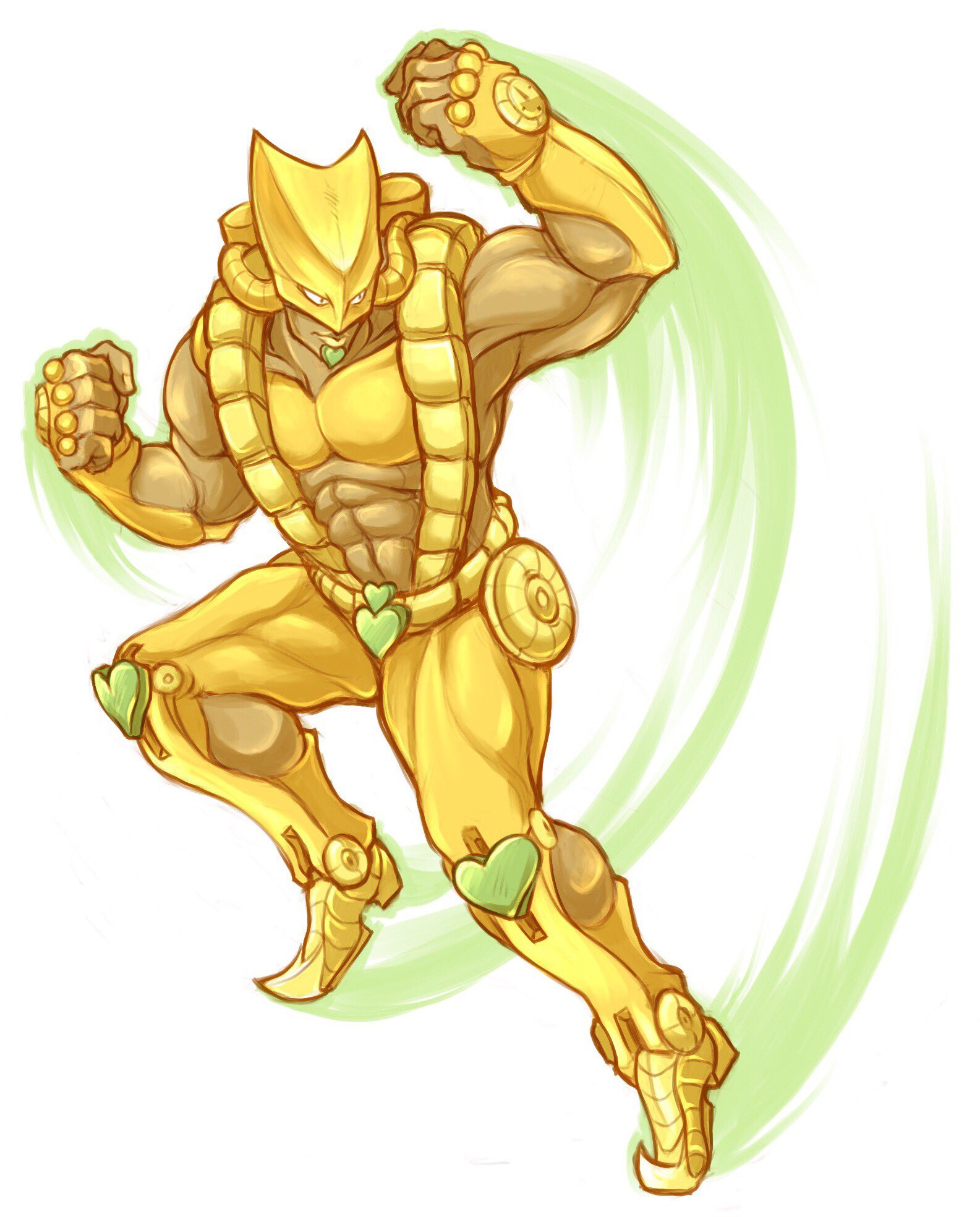 It took me drawing this to realize Dio\'s stand has tanks and.