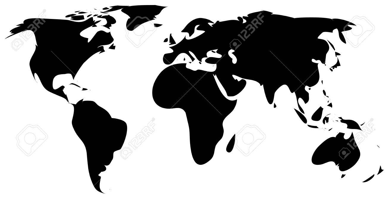 World Map Silhouette Simple.