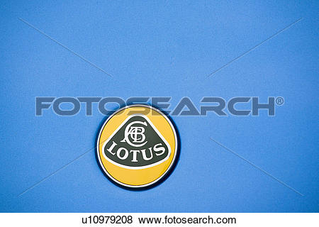 Pictures of A Lotus car badge, a presitigious brand in the world.