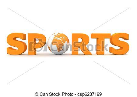Stock Illustration of Sports World Orange.