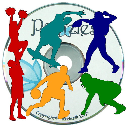 Pazzles :: Cutting Files :: Image CDs :: CD 29: Wide World of Sports 2.