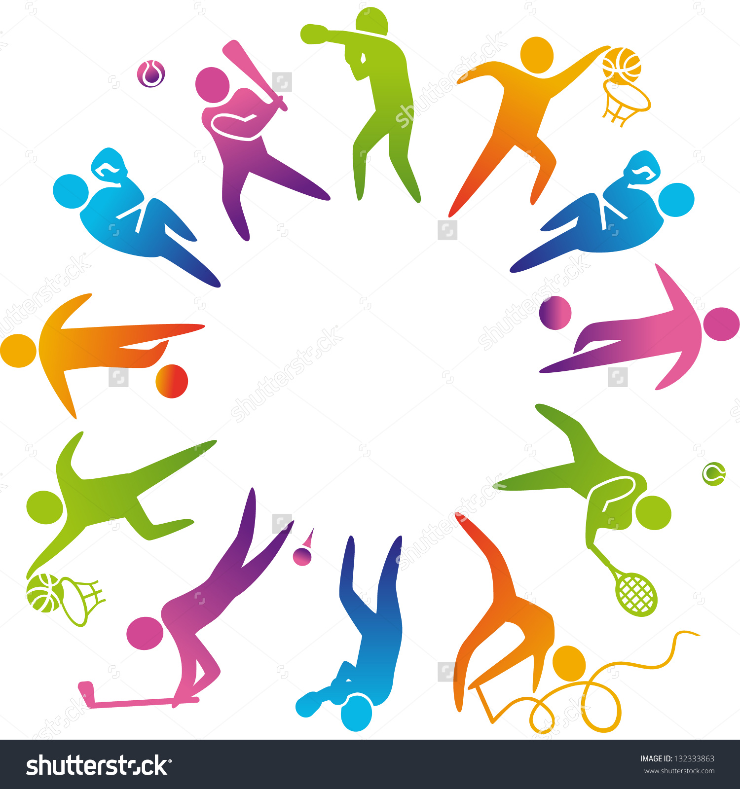 World Sports Vector Illustration Sports Icons Stock Vector.