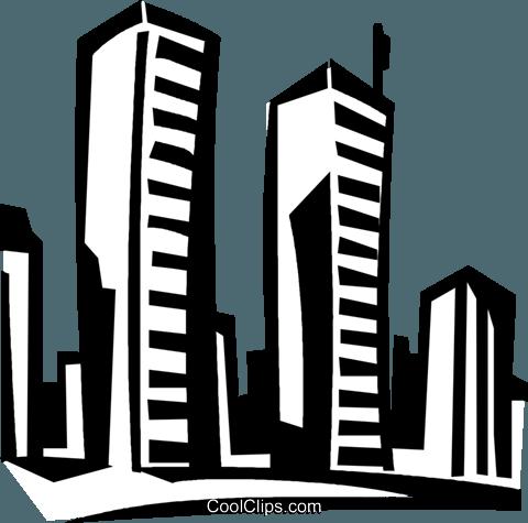 world trade center Royalty Free Vector Clip Art illustration.