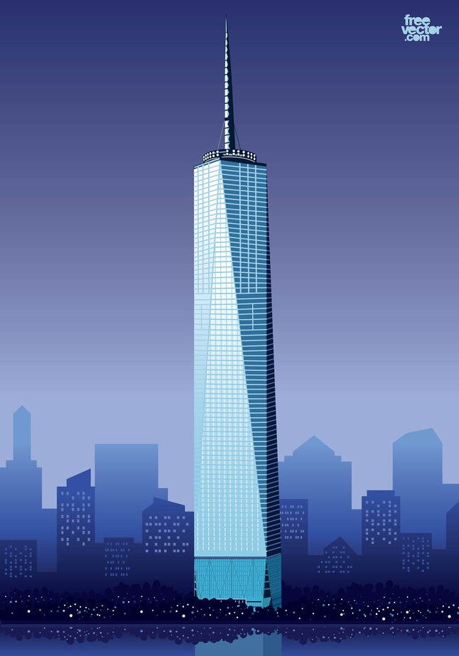 World trade towers clipart.