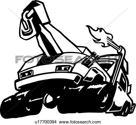 Clipart of , auto, car, toon, tow truck, trade, wreck, car toon.