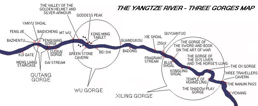 Yangtze River Map, China Yangtze River Map.