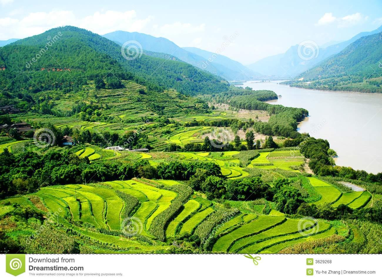 The 1st Turn Of Yangtze River Royalty Free Stock Photos.