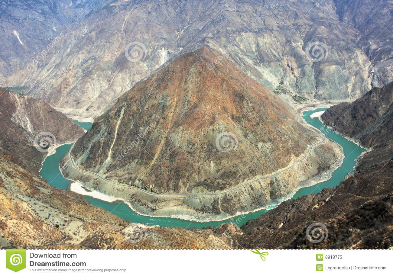 The First Bend Of The Yangtze River Royalty Free Stock Photo.