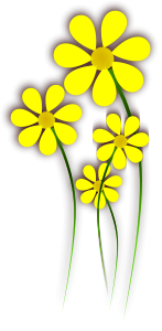 Daisies Yellow Flower Clipart, vector clip art online, royalty.