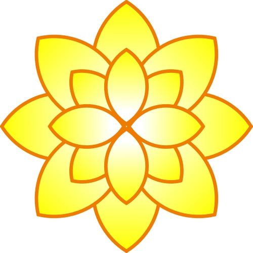 small yellow flowers clipart.