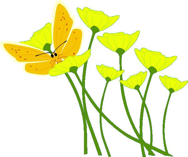 Yellow Daisy Flower Clip Art.