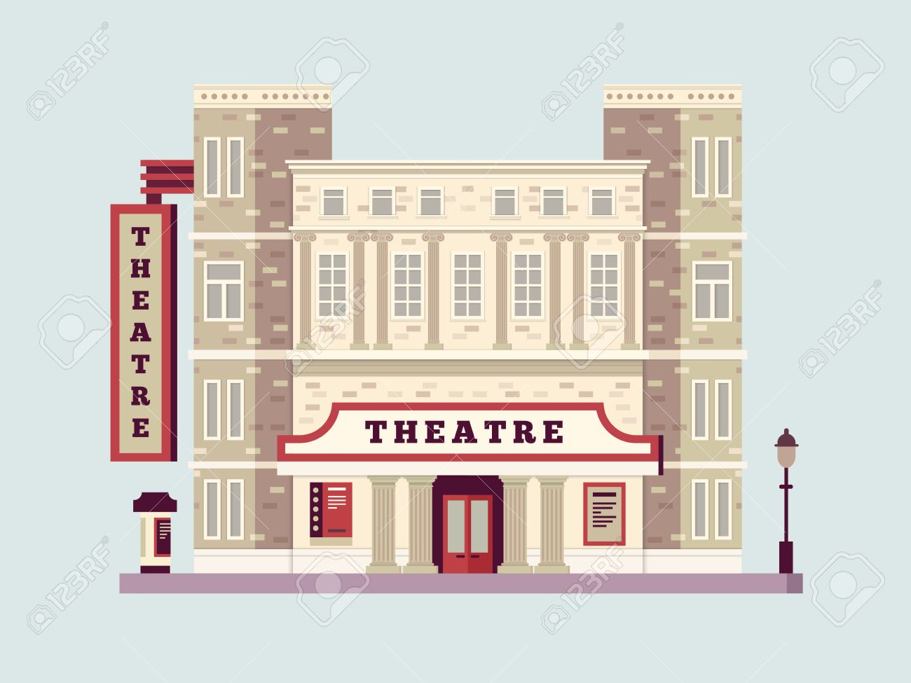 Theater Building Cliparts 1.