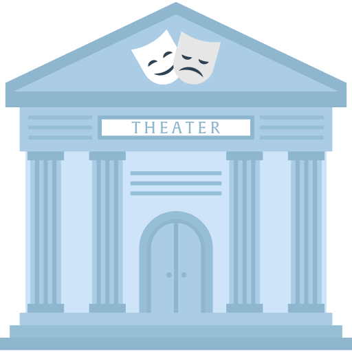 Theater, museum, theatre, Monuments, temple, buildings icon.