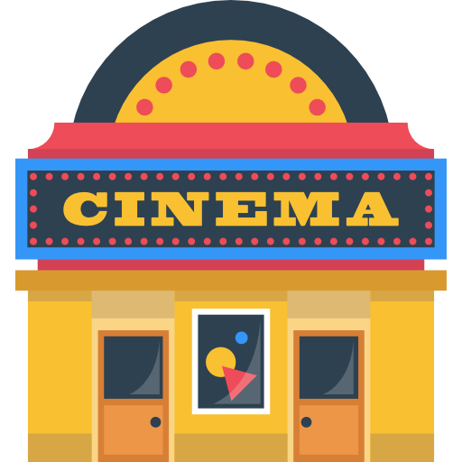 Clip Art Free Stock Movie Theater Building Clipart.