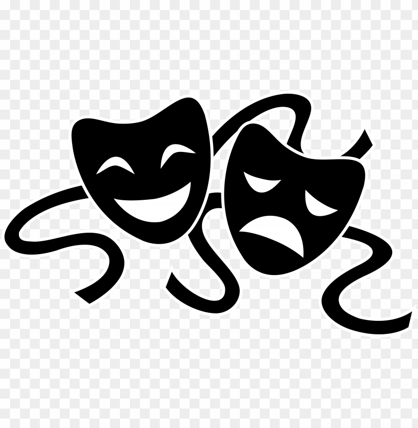 theater masks silhouette.
