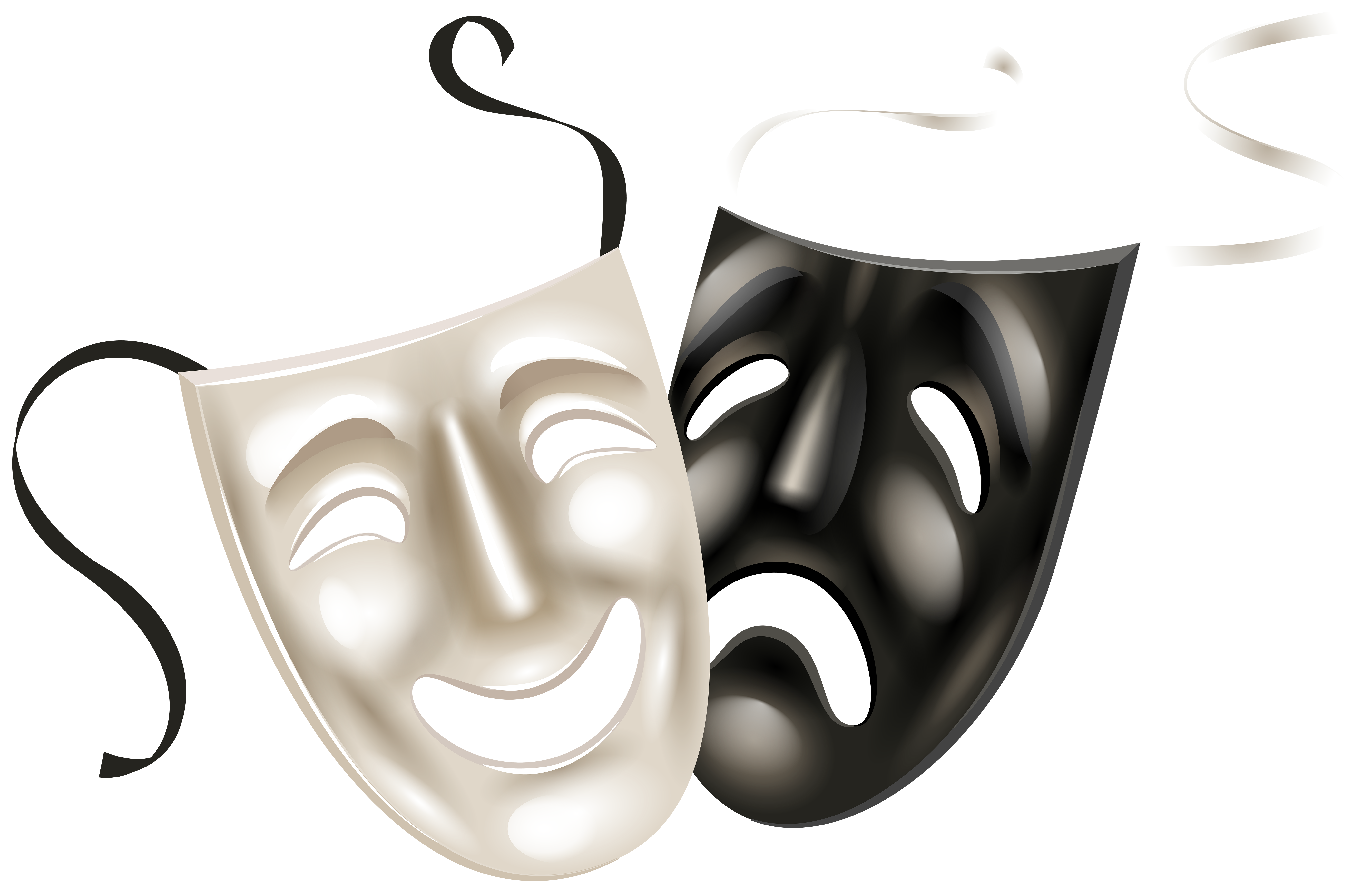 Theater Masks PNG Clip Art PNG Image.