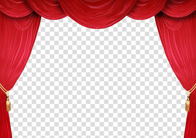 Red theater curtain, Theater drapes and stage curtains.