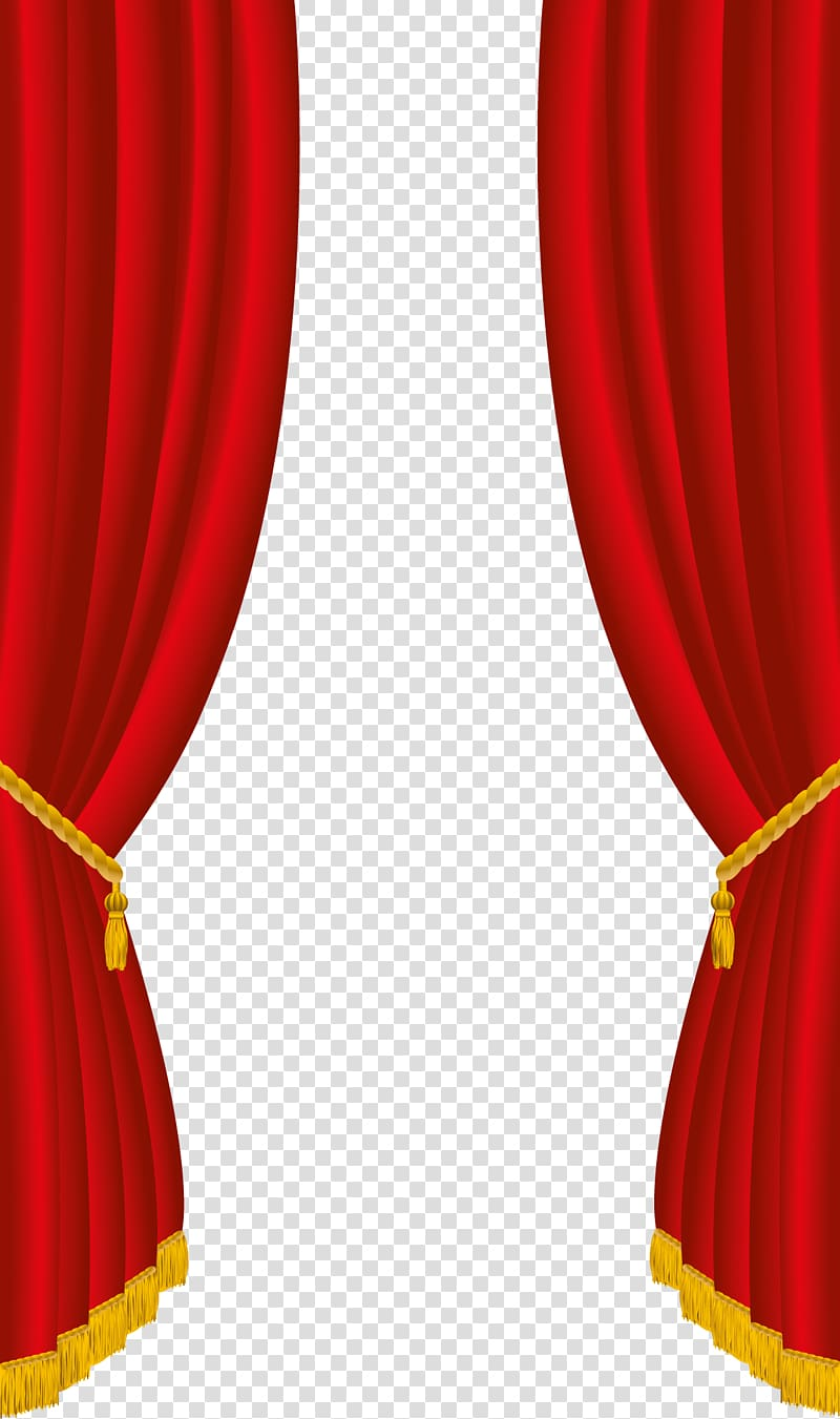 Red theater curtain , Theater drapes and stage curtains.