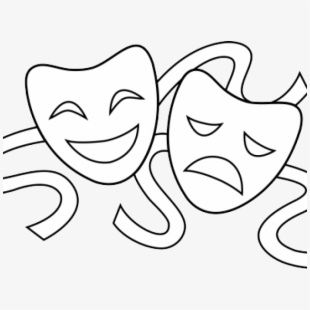 Theater Masks Clipart.
