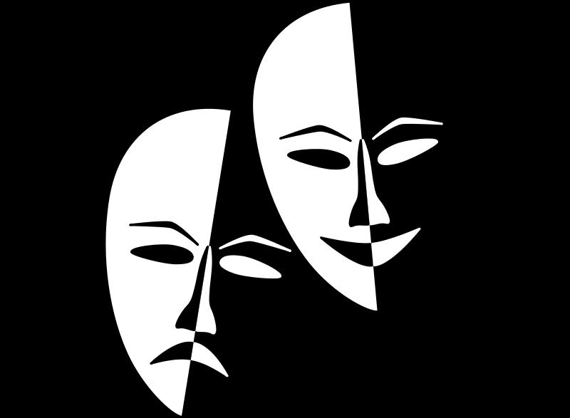Free Clipart: Theatre Masks.
